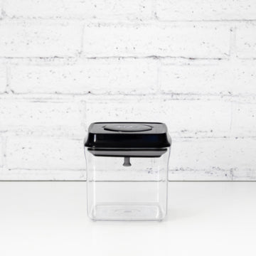 PLD 500ML Black Lid Pantry Container (Push Top Seal)