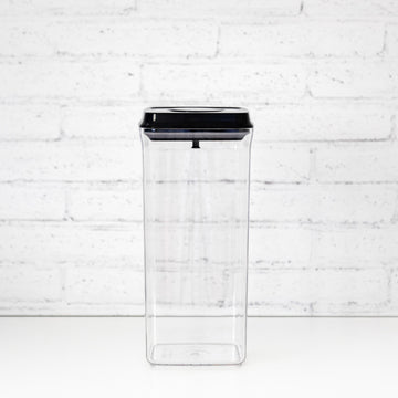 PLD 2.5L Black Lid Pantry Container (Push Top Seal)