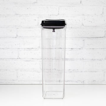 PLD 3.2L Black Lid Pantry Container (Push Top Seal)