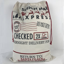 Christmas Santa Sacks - Sleigh Mail Express
