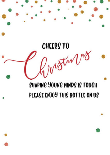 Wine Bottle Labels - Cheers to Christmas