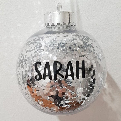 Christmas Personalised Name Bauble Labels