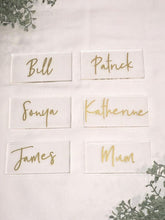 Personalised Acrylic Name Place Cards