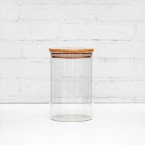 700ml PLD Glass Canister Jar with Natural Bamboo Lid