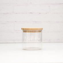 Ultimate PLD Bamboo Glass Pantry, Spice Jars & Label Options  **Due in 30th April