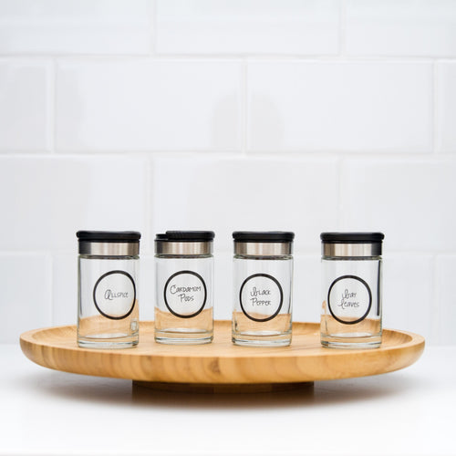 Spice Jar Label Pack Replicate From Great Beginnings - Black & White