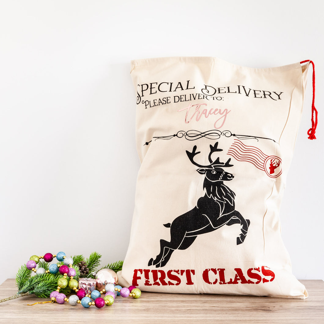 Personalised Christmas Santa Sacks - Special Delivery First Class