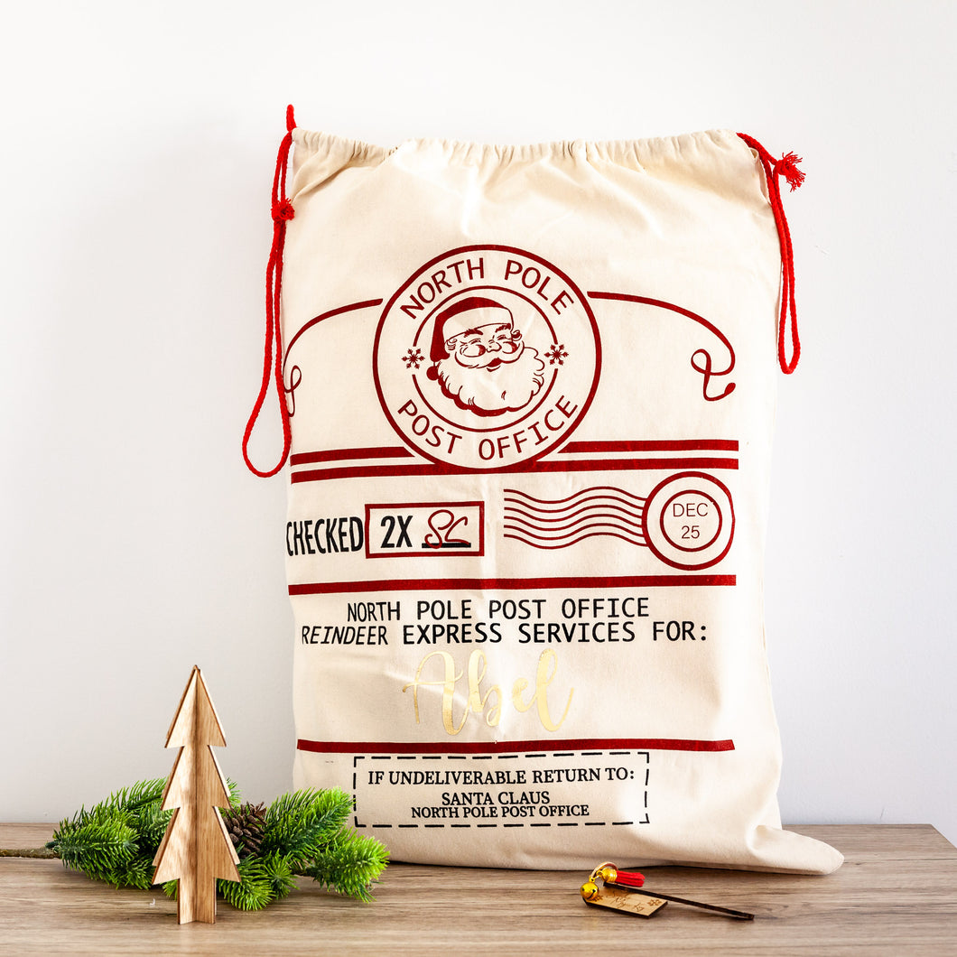 Personalised Christmas Santa Sacks - North Pole Post Office
