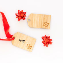 Personalised Christmas Gift Bamboo Tag