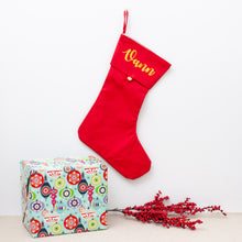 Personalised Christmas Stockings - Red