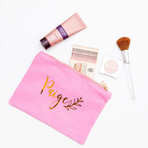 Personalised Canvas Makeup Bags (More Colour Options)