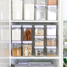 PLD Push Top White Lid Pantry Container Set & Labels (or without) - 15 containers