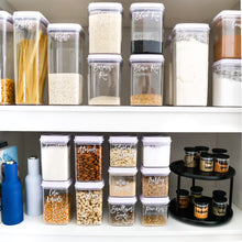 PLD Push Top White Pantry Container Set & Labels (or without) - 25 containers