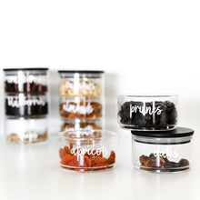 PLD Black Bamboo 3 Stackable Jars