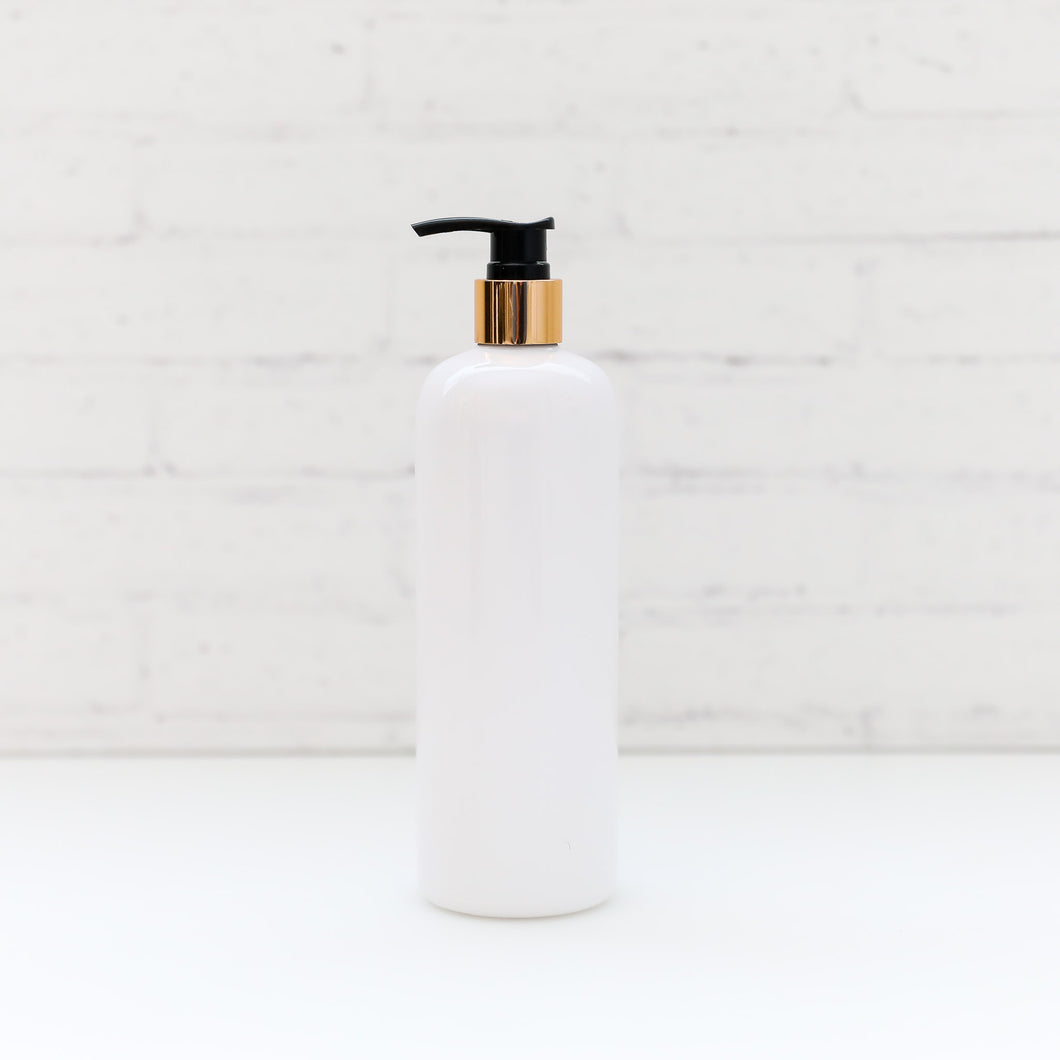 500ml Gold neck pump bottle (No Label)