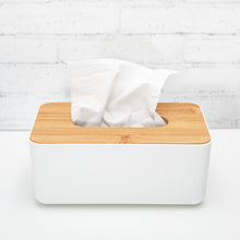 Tissue Box with bamboo lid