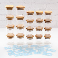 Buy Bamboo Glass Spice Jars