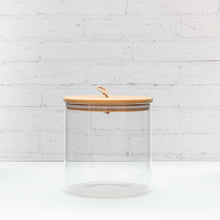 Glass Storage Jar with Bamboo string Lid - 2.6L