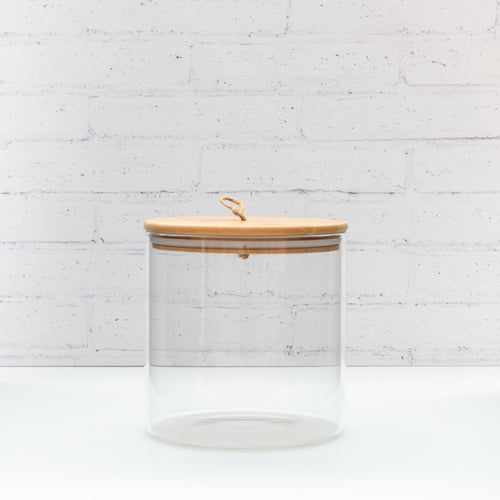 PLD Glass Storage Jar with Natural Bamboo string Lid - 2.6L