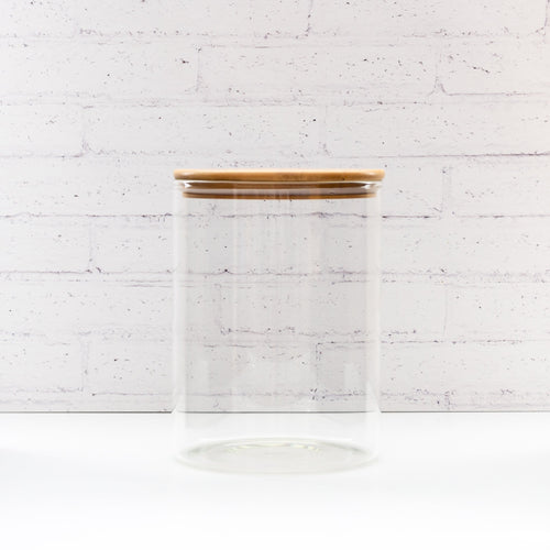 2 Litre PLD Glass Canister Jar with Natural Bamboo Lid