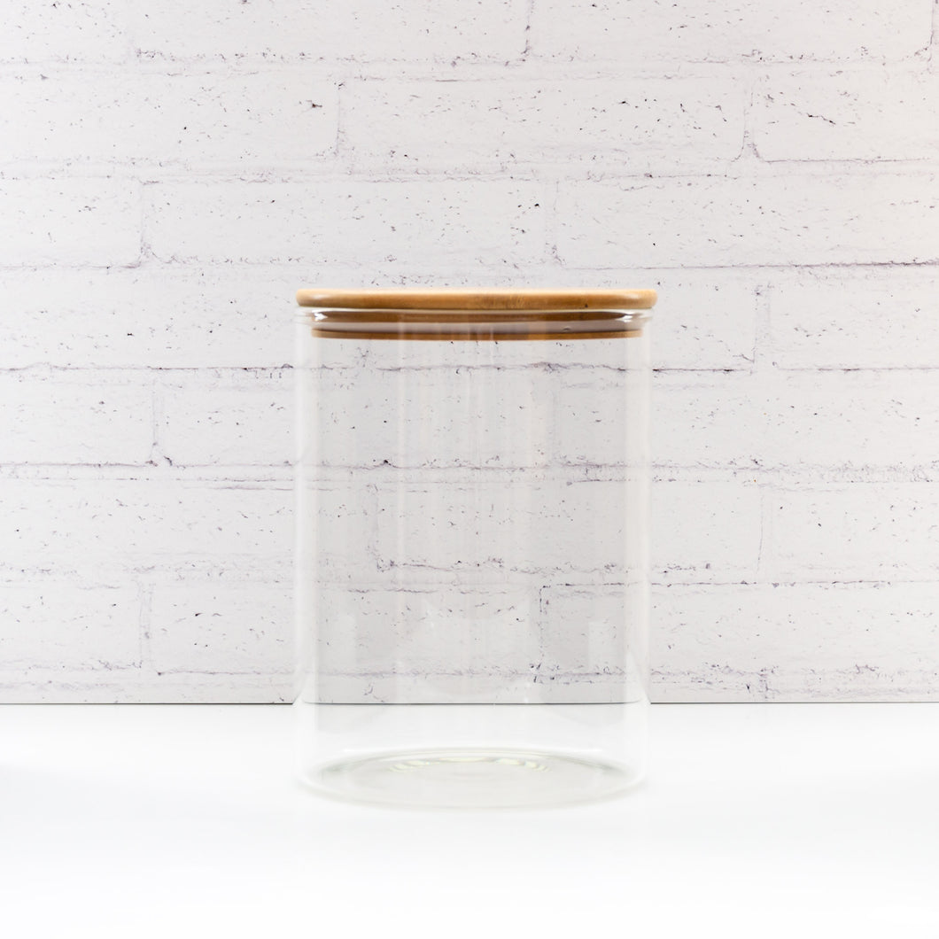 3.5 Litre PLD Glass Canister Jar with Natural Bamboo Lid