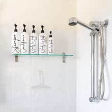 Bathroom Bottles, Pump & Label - Perfect for Shampoo, Conditioner etc