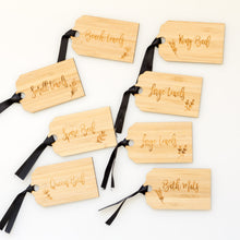 Bamboo Home Organisation Swing Tags with ribbon