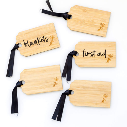Personalised Bamboo Tag & Label