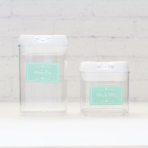 Pantry Label Pack - Daisy - Mint - 180 Labels