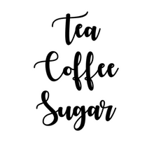 Tea Coffee Sugar Canisters Labels - Fonts