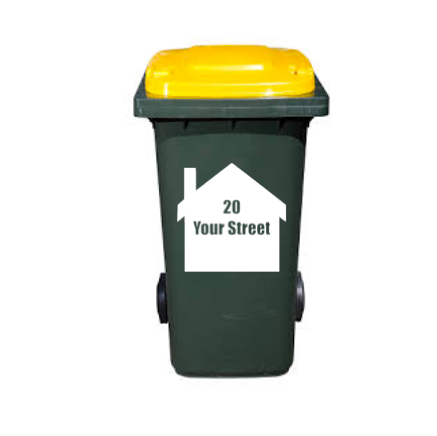 Household Bin Number - Garbage Bin Stickers