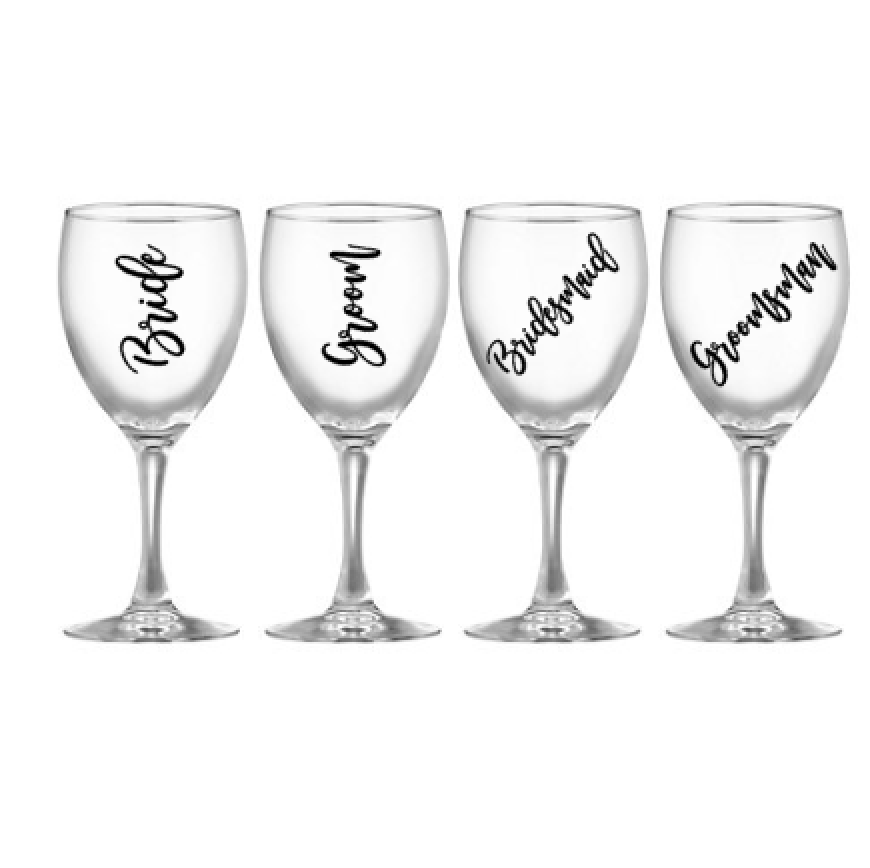 3ac306cf1b9 Wedding Glass Decals - Personalised Wine Glass Decals – Pretty Little  Designs Pty Ltd