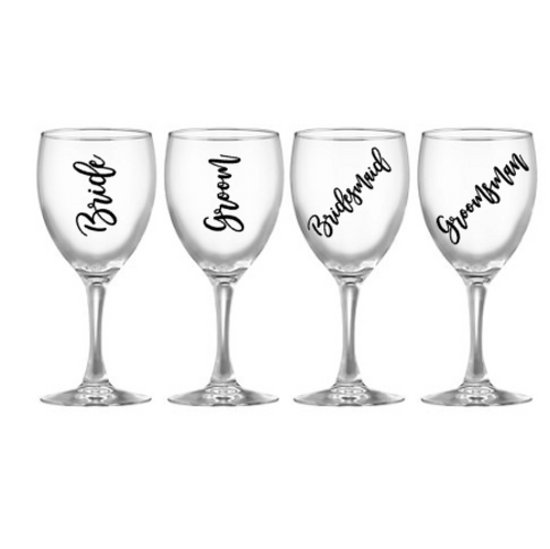 Wedding Glass Decals - Pretty Little Designs
