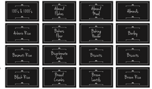 Pack of Pantry Labels - Daisy Black