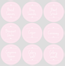 Spice Jar Label Packs - Daisy - Pink