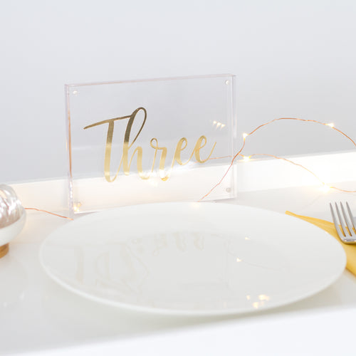 Table Number Decals - Pretty Little Designs