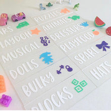 Toy Room Organization Labels - Pretty Little Designs