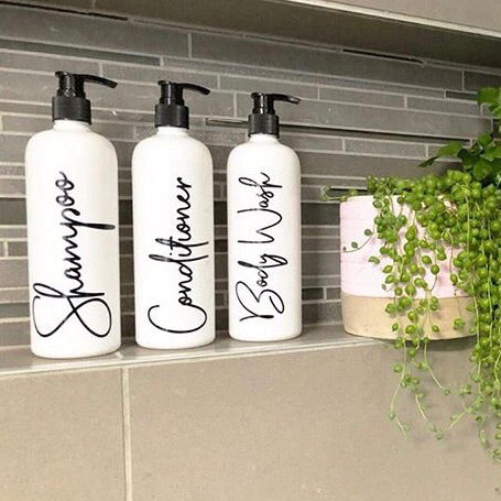 Shampoo, Conditioner Bathroom Labels