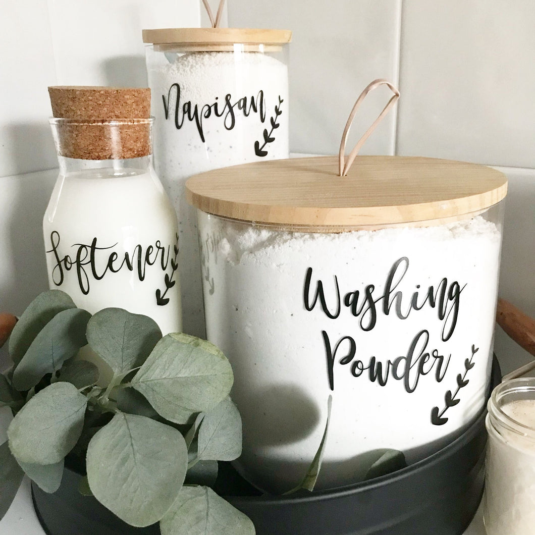 laundry label sets pantry kmart jars pretty little designs