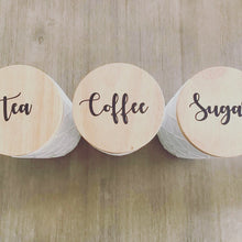 Tea Coffee Sugar Canister Labels - Pretty Little Designs