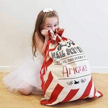 Personalised Christmas Santa Sacks - Candy Stripe