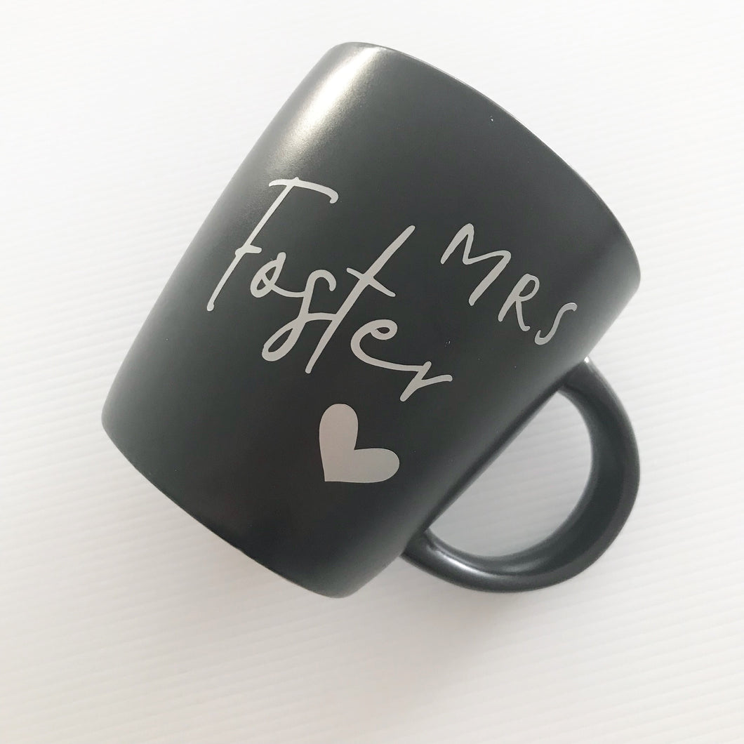 Personalised Mug Name Label - Heart