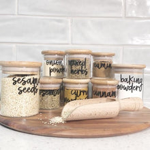 bamboo spice jars sets