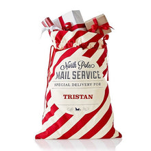 Custom Santa Sacks - Candy Stripe