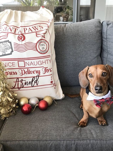 Personalised Christmas Santa Sacks - SANTA PAWS