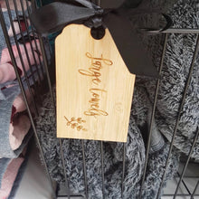 Bamboo Swing Tags with Ribbon