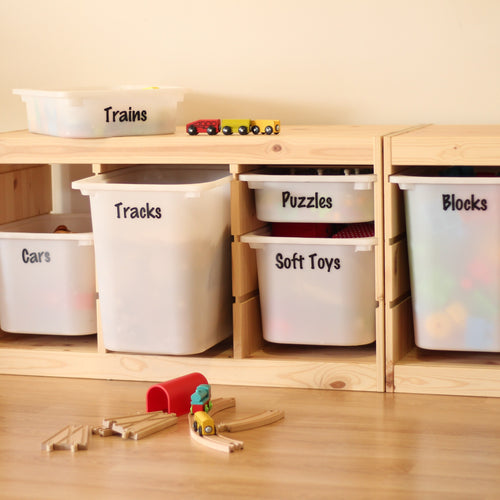 Playroom / Toy Storage Labels - Pretty Little Designs