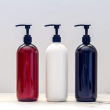 Bathroom Bottles, Pump & Label - Design your own font