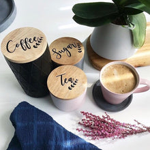 Orchid Tea, Coffee Sugar Canister Labels