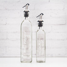 Oil & Vinegar Glass Bottle with Pourer 250 ml & 500ml